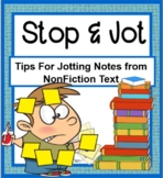 Stop and Jot SMARTBOARD PLUS PRINTABLE card set- Tips for