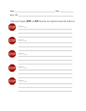 Stop and Jot Worksheet