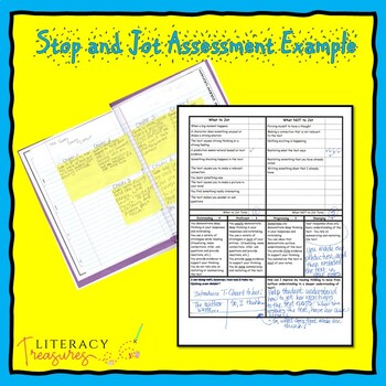 Stop and Jot to Show Reading Thinking Assessment -- A Progress Monitoring Tool