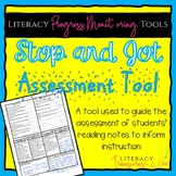 Stop and Jot to Show Reading Thinking Assessment -- A Prog