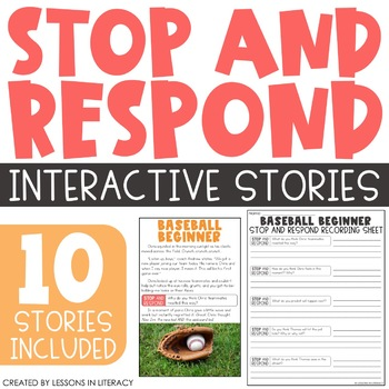 Stop and Respond {Interactive Stories}