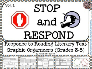 Graphic Organizers - Reading Response - Literary Text