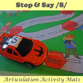 Stop and Say /S/ Speech Articulation Activity Mat