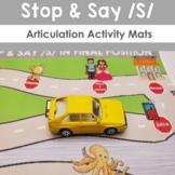 Stop and Say /S/ Speech Articulation Activity Mat