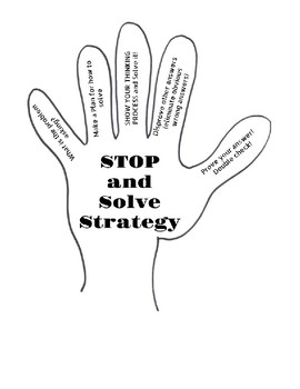 Stop and Solve Math Strategy Plan