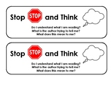 Stop and Think Bookmark