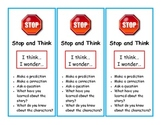 Stop and Think Bookmark - Monitoring Comprehension