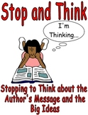 Stop and Think Reading Poster