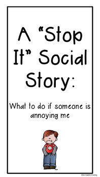 Stop it, I don't like it social story