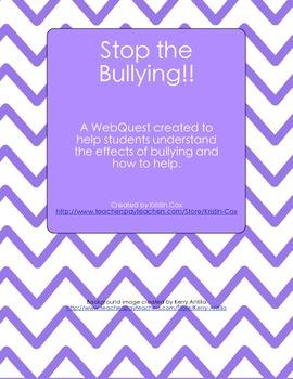 Stop the Bullying!! (Social Skills WebQuest)