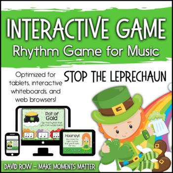 Stop the Leprechaun - St. Patrick's Day Interactive PDF game to identify Rhythm