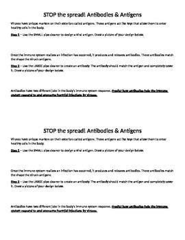 Stop the Spread! Antigens and Antibodies
