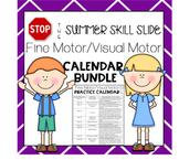 Stop the Summer Slide Fine Motor/Visual Motor Practice Calendars