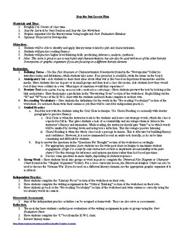 the Sun by Gary Paulson Lesson Plan, Worksheet, Key, Powerpoints