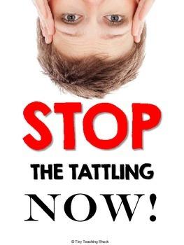 Stop the Tattling Now! Tattling vs. Reporting