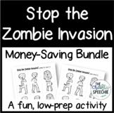 Stop the Zombie Invasion: An Articulation Activity (Money-Saving Bundle)
