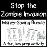 Stop the Zombie Invasion: An Articulation Activity (Money-Saving Bundle)