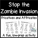 Stop the Zombie Invasion: An Articulation Activity firFric