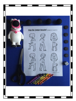 Stop the Zombie Invasion Freebie: An Articulation Activity for /p, b, m, ng/