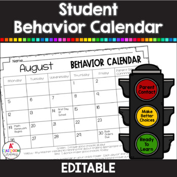 Stoplight Behavior Calendars