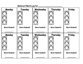 Stoplight behavior chart by the mountaineer teacher tpt