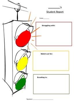 Stoplight Behavior Form