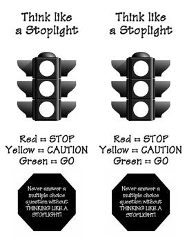 Stoplight Bookmark for Testing
