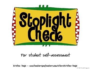 FREE Stoplight Check for Student Self-assessment