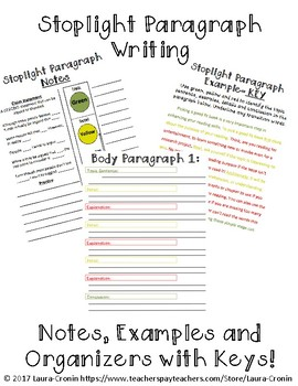 Stoplight Paragraph Writing