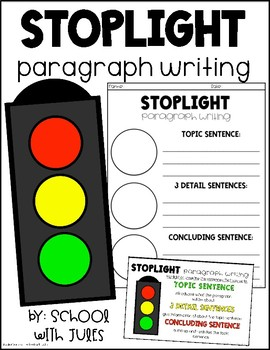 Stoplight Paragraph Writing by School with Jules | TpT