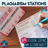Stoplight Plagiarism Revision and Editing Stations for High School