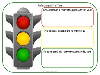 Universal image with stoplight printable