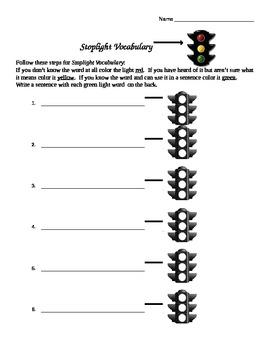Stoplight Vocabulary