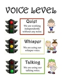 Stoplight Voice Level Sign *FREE*