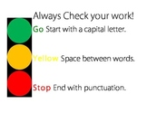 Stoplight Writing Poster