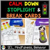 Calm Down Stoplight and Break cards Behavior Task Cards