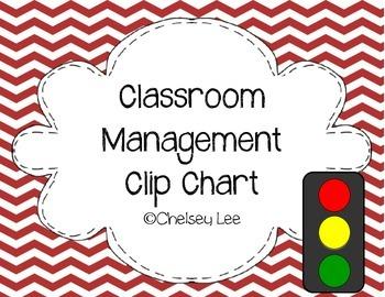 Stoplight Classroom Management Clip Chart