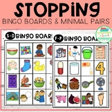 Stopping Bingo Boards & Minimal Pairs - Phonology