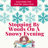 Stopping By Woods On a Snowy Evening station activity for poetry analysis