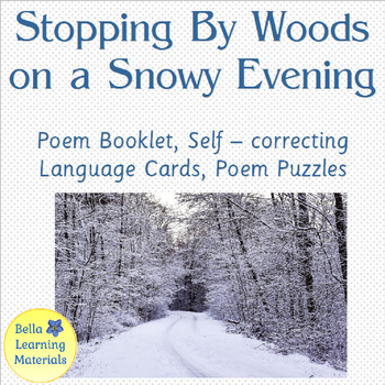 Stopping By Woods Poem & Language Cards