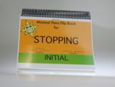 Stopping Initial: Minimal Pair Flip Book Game