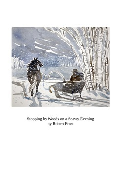 Stopping by Woods.. by Robert Frost - Student Activity Bundle