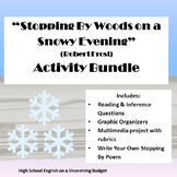 Stopping by Woods on a Snowy Evening Activity Bundle (Robert Frost)- WORD