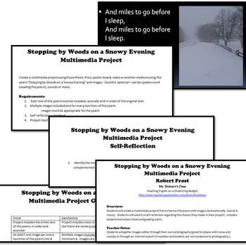 Stopping by Woods on a Snowy Evening Multimedia Project (Robert Frost)