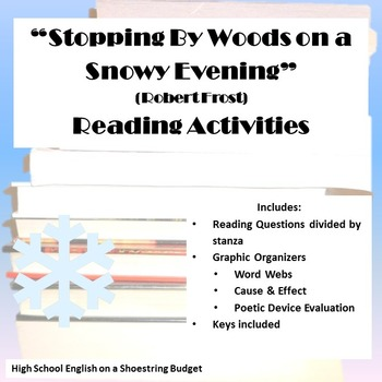 Stopping by Woods on a Snowy Evening Reading Activities (R