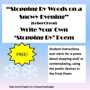 stopping by woods on a snowy evening write your own poem robert frost