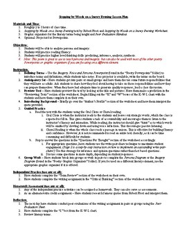 stopping by woods on a snowy evening lesson plan worksheet key lesson stopping by woods on a snowy evening lesson plan worksheet key