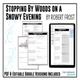 "Poetry Lesson: ""Stopping by Woods on a Snowy Evening"" by Frost {Google Resource}"