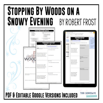 Poetry Lesson Stopping By Woods On A Snowy Evening By Frost  Poetry Lesson Stopping By Woods On A Snowy Evening By Frost Google  Resource