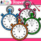 Rainbow Stopwatch Clip Art {Measurement Tools for Math and Science Resources}